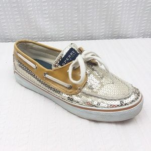 Sperry | Canvas & Sequin Topsider Boat Shoe Size 6